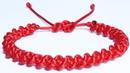Como hacer pulseras de hilo con cola de ratón roja tejidas de nudos de macrame faciles. Pulsera roja