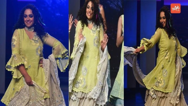 Nithya Menen Walks For Kaveri At Lakmé Fashion Week Summer Resort 2020 YOYO Hungama