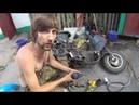 Ремонт выхлопной системы китайского скутера. Вся боль в одном видео!