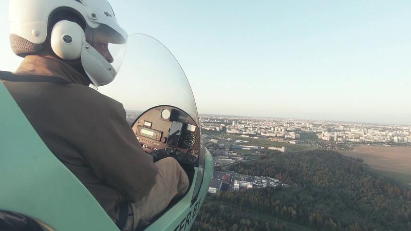 Полет на автожире|Flying in a gyroplane.
