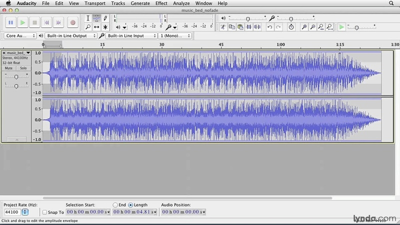 Audacity tutorial Using common effects