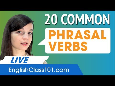 20 High Frequency Phrasal Verbs in English