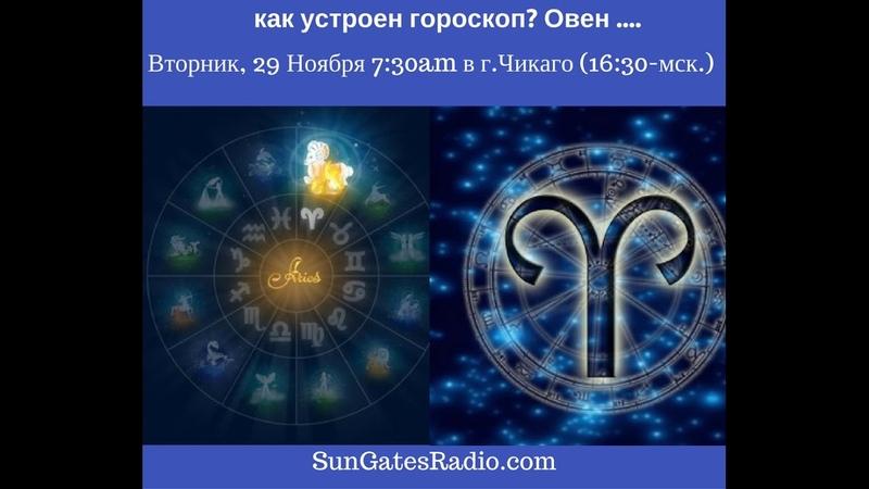 Астролог Анна Ласточкина: Как устроен гороскоп. Овен