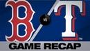 Minor's 200th K Santana's slam lift Rangers Red Sox Rangers Game Highlights 9 26 19
