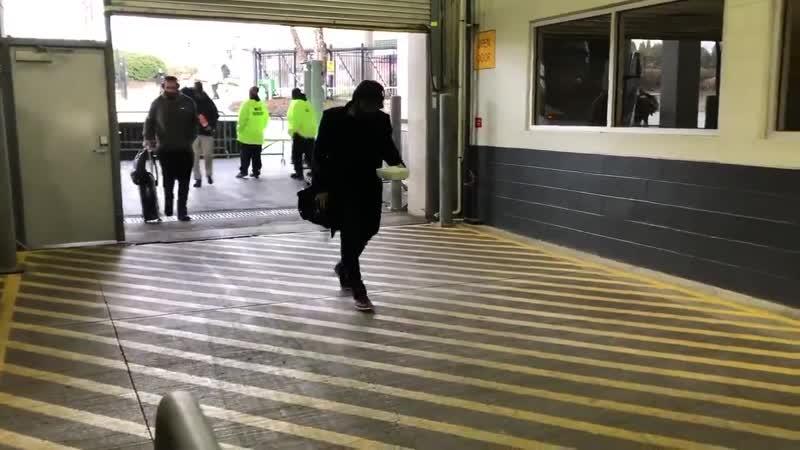 Julian Edelman arrives on the earliest possible bus