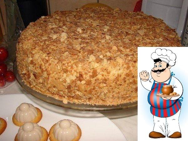 """Оригинальный торт """"Наполеон"""" (за пол часа)."""