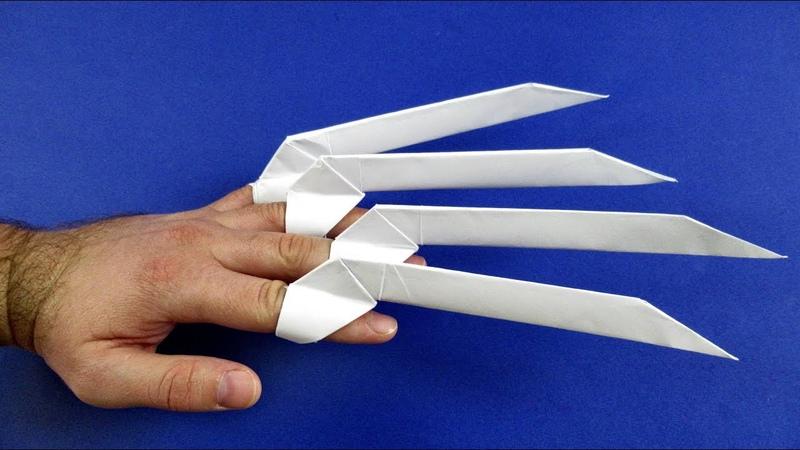 Как сделать когти росомахи из бумаги Оригами когти
