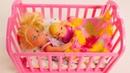 Chelsea fica com Evi sozinha. Barbie Português Brasil. Vídeos com brinquedos para meninas.