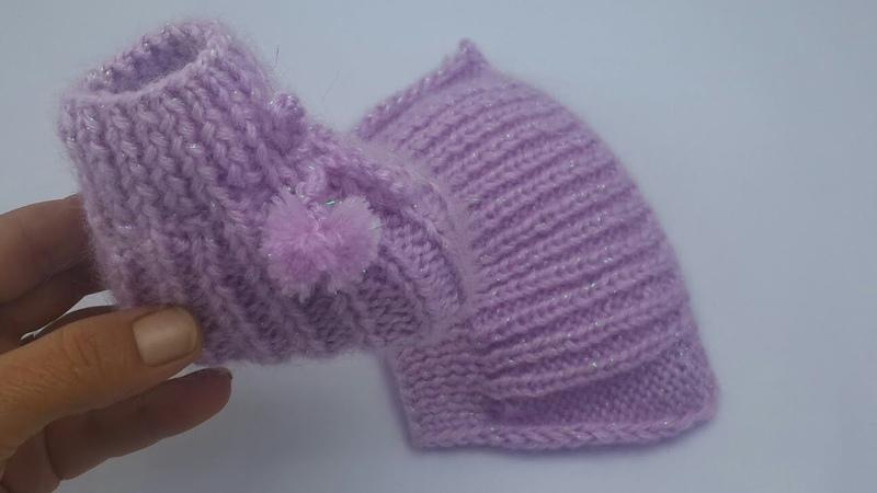 BABY Tüm bebeklere göre yeni patik modeli angora ip ile bebek patik yapımı bebek dükkanı