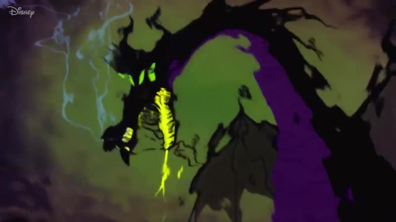 Maleficent transforms in this pencil test footage of original animation drawings