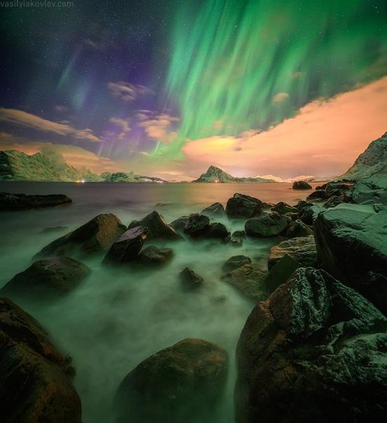 Пляж Вик, Лофотенские Острова, Норвегия