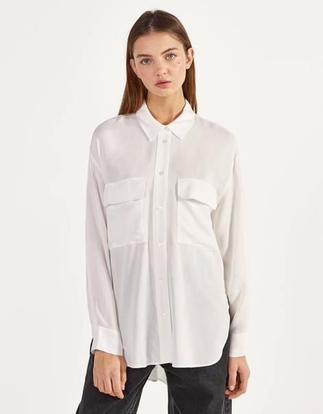 Длинная рубашка с разрезами