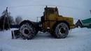 Т 40 АМ и К 700 А Кировец Чистка снега то что упало с крыши