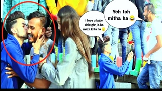Gay prank with cute couples  Twist Prank   Hs prank Tv   Funny reaction Prank 😂   #gayprank
