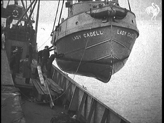 Tug And Barges As Cargo At Liverpool New In A Nutshell (1935)