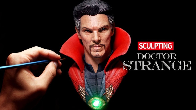 Sculpting Realistic Dr. Strange Sculpture Timelapse - Avangers Infinity war, Endgame