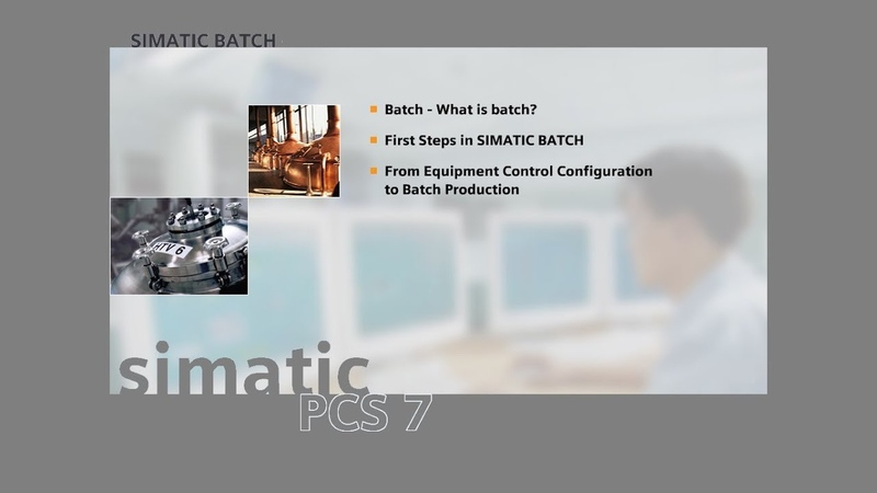 05 - SIMATIC BATCH - Model of Control Procedure
