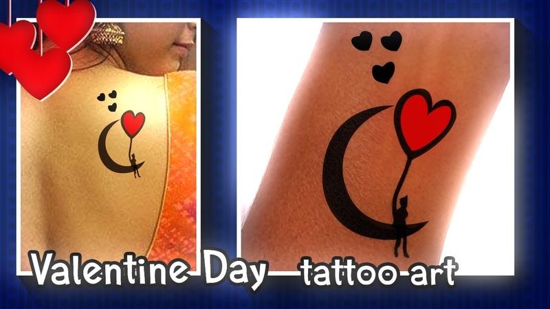 New Tattoo Valentine Day special tattoo Moon with Heart DIY Temporary tattoo