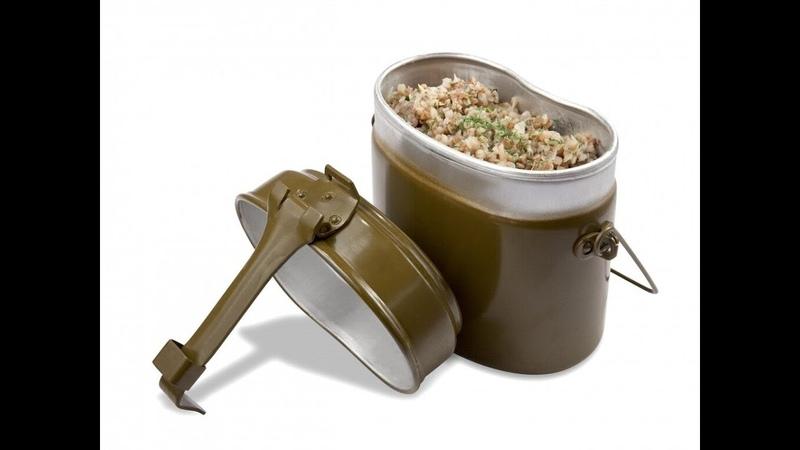Гречневая каша на полевой кухне от Луча Buckwheat porridge in the field kitchen stewed potatoes