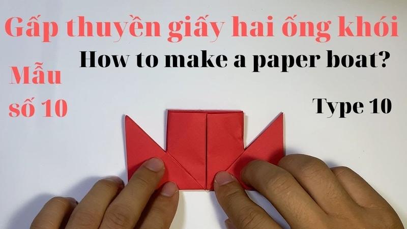 An brothers Origami | Hướng dẫn gấp thuyền hai ống khói | Mẫu số 10 | How to make a paper boat?