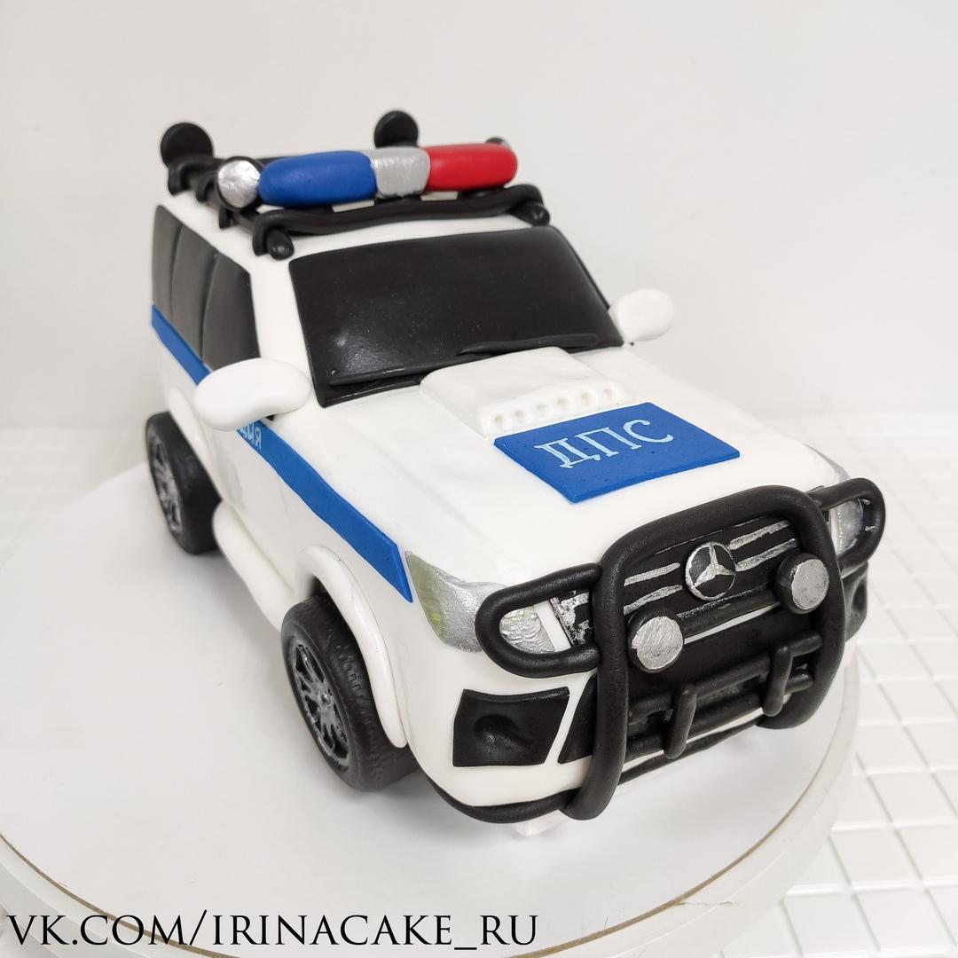 торт в виде машины ДПС (Арт. 663)