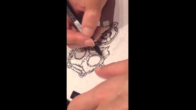 大サービス️ドロヘドロ きのうの餃子会でわかったこと カイマン描きはバランスのとりにくい から始める 林田球さんから動画アップOK️いただきました