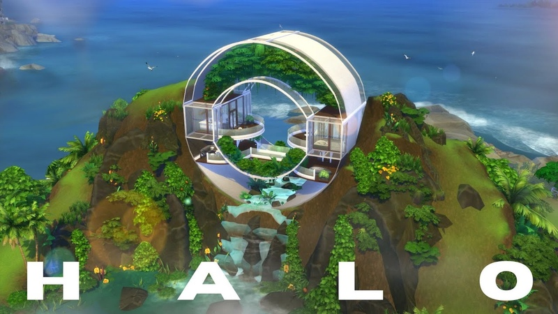 HALO CIRCULAR HOUSE The Sims 4 Speed Build NOCC