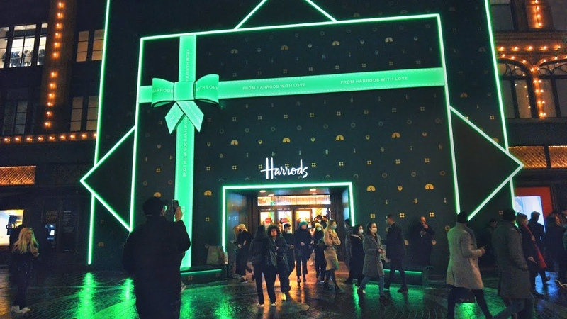Harrods Christmas Windows 2020 Harvey Nichols ✨ Knightsbridge London Walk