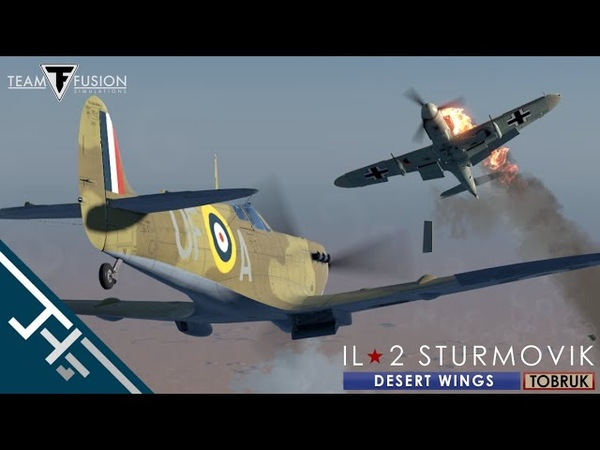IL-2 Desert Wings - Tobruk Spitfire Vb Trop - Sollum Bay engagement [Beta footage]