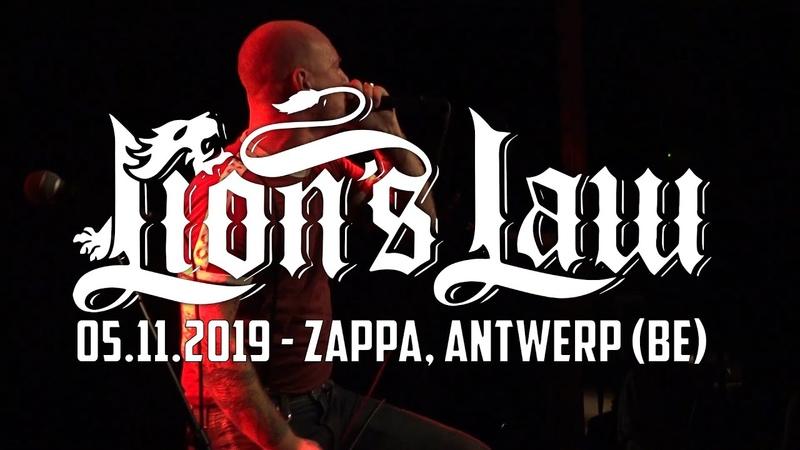 LION'S LAW @ Zappa Antwerp 05 11 2019 MULTICAM FULL SET