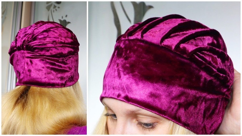 Шапка в стиле Тюрбан / Twisted Turban Hat Sewing Pattern