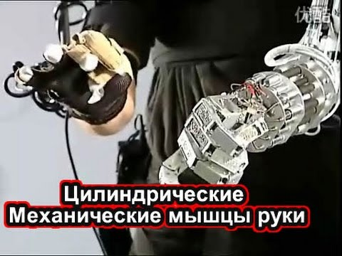 机械手臂 肌肉气缸 仿生机械手Цилиндрические мышцы руки бионических роботов