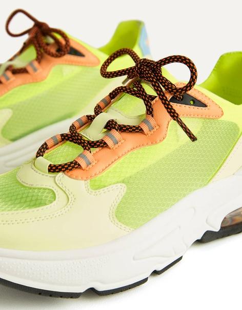 Полупрозрачные кроссовки неонового цвета image 3