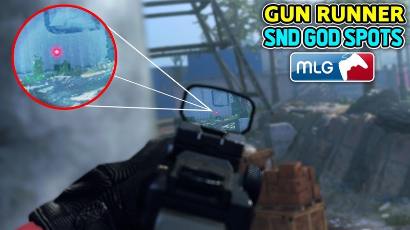 SnD GOD SPOTS on GUN RUNNER! (MW SnD BEST Competitive Search and Destroy Plant Spots) Modern Warfare