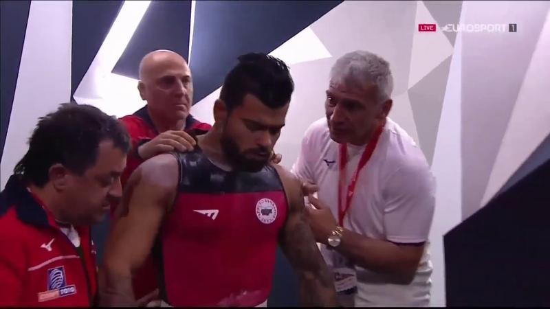 Bozhidar Andreev 73 kg Clean Jerk 192 kg 2019 European Weightlifting Championships