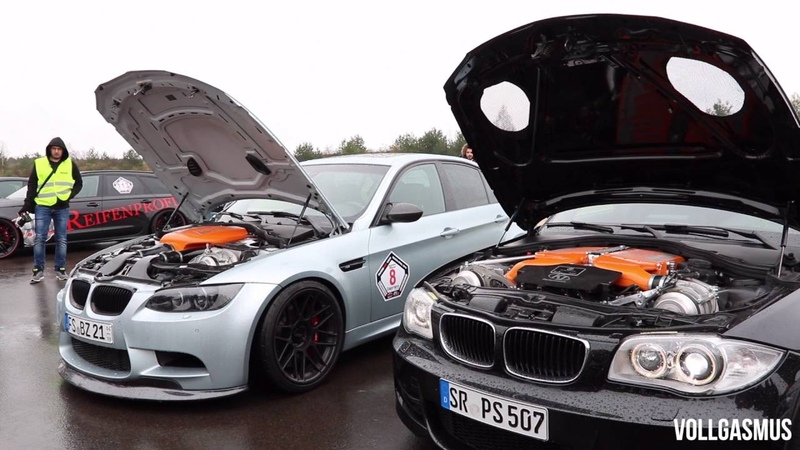 750HP BMW 1 Series with V10 and Compressor Loud Revs Acceleration Sound