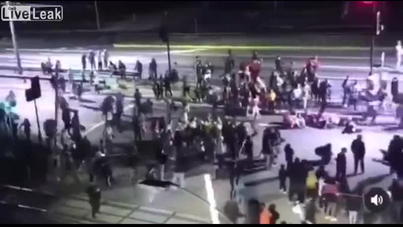 Car Hits Crowd at High Speed