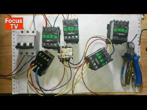 How to power wiring of forward and reverse star delta three phase motor starter