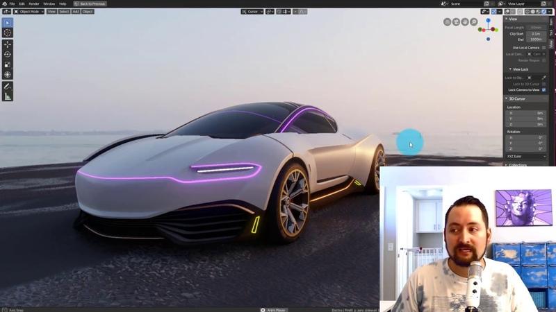 Blender 2.8 Visualizing CAD pt.1: Importing Automotive CAD using Alias or Rhino