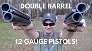 Double Barreled 12 Gauge Shotgun Pistol Review- THE DIABLO!!!