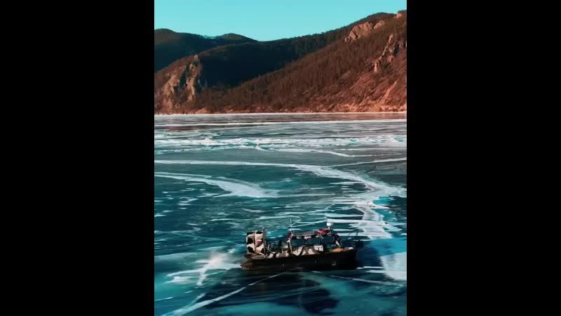 Прогулка по самому большому замёрзшему озеру