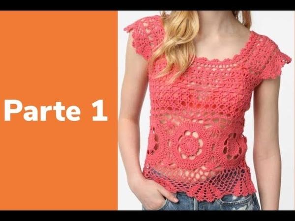 Crocheparainiciantes.net/BLUSA ROSA - PARTE 1 - CORPO- Linha Camila Fashion