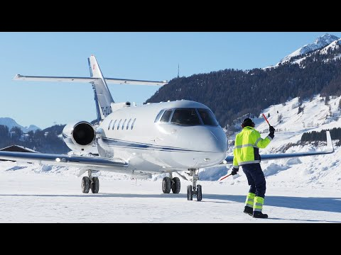 TC CLG Hawker Beechcraft 900XP Engadin Airport 02.01.2020 Part 2