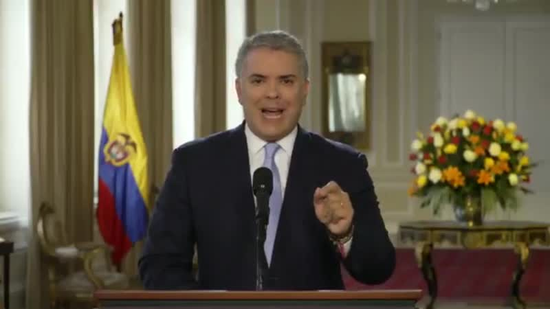 Presidente Duque acusa a Dictadura Maduro de apoyar a Narcoterroristas de la nueva FARC.