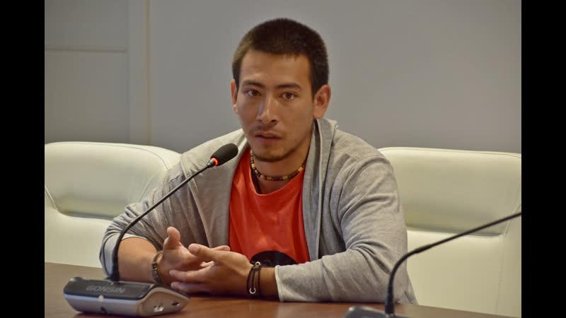 Ильнур Гарифуллин на пресс-конференции о роли Сильвио в спектакле Выстрел