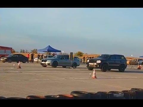 Jeep Grand Cherokee SRT vs BMW M5 F90 - 12.10.2019 Драг Рейсинг в Октябрьском