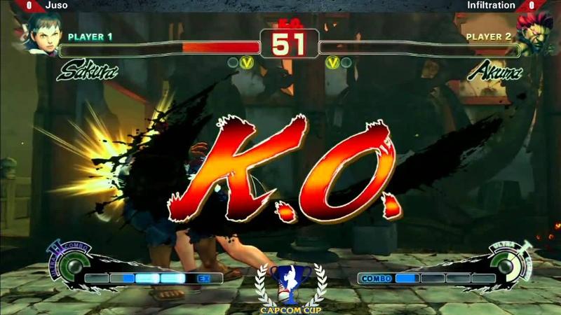 Juso vs Infiltration TGS2013 Capcom Cup Qualifier SSF4 AE Ver 2012
