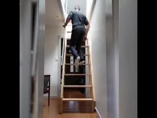 Лестница, которая экономит пространство