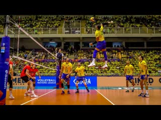 Yoandy leal. monster of the vertical jump. brazil volleyball team (hd)