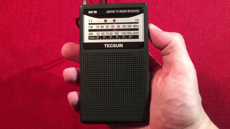 Радиоприёмник Tecsun R 218 приём на Средних волнах